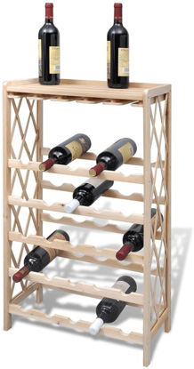 Picture of Wooden Wine Rack for 25 Bottles
