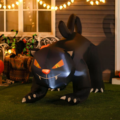 Picture of Inflatable 6' Black Cat with LED Light Outdoor Decor