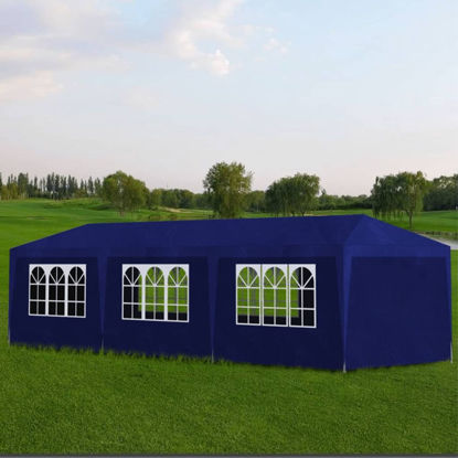 Picture of Outdoor Party Tent 10' x 30' with 8 Walls - Blue
