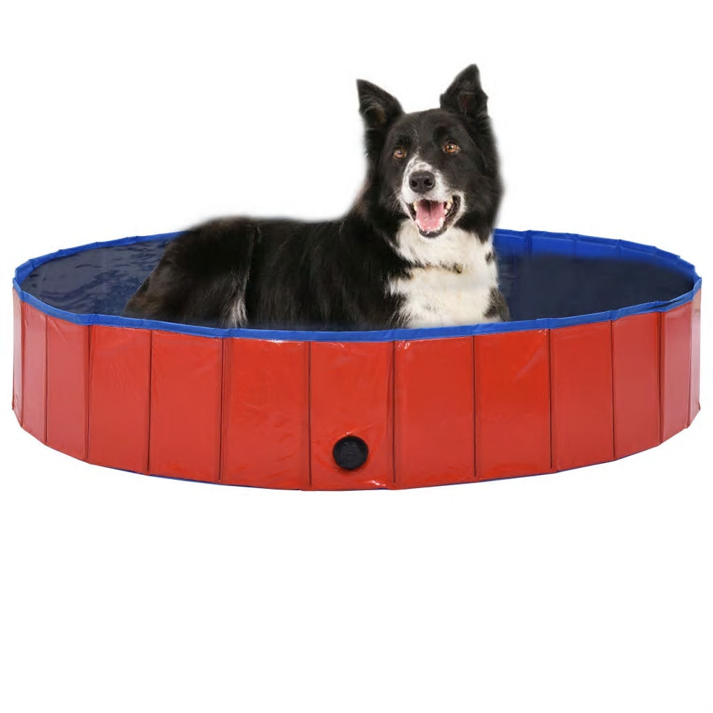 Picture of Foldable Dog Swimming Pool - Red PVC