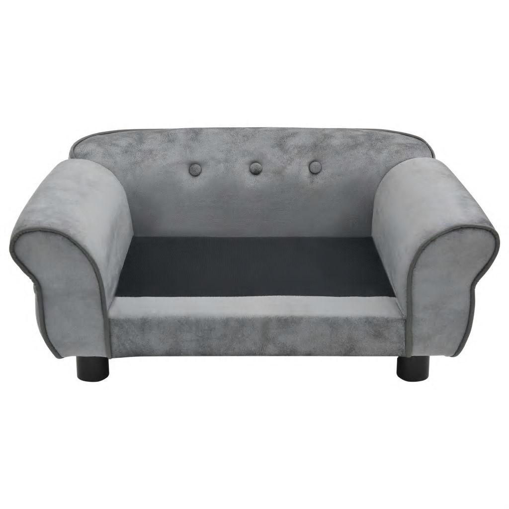 Picture of Dog Plush Sofa - Gray
